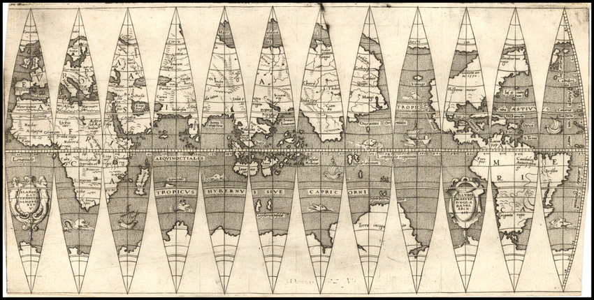 2. Engraved globe gores by François Demongenet. © Barry Lawrence Ruderman Antique Maps Inc.