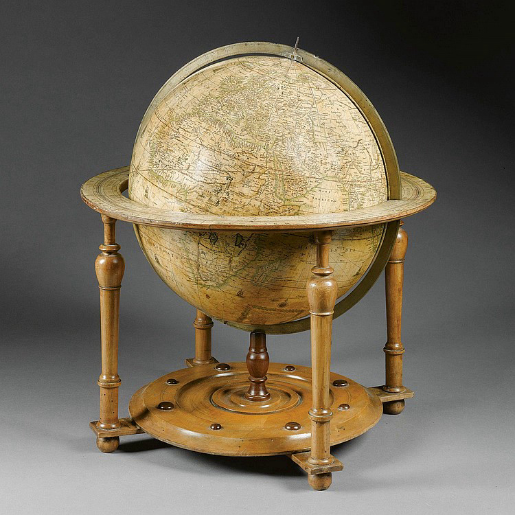 "5. ""A New Terrestrial Globe"" ca. 1675, by Robert Morden and William Berry. © Sotheby's."