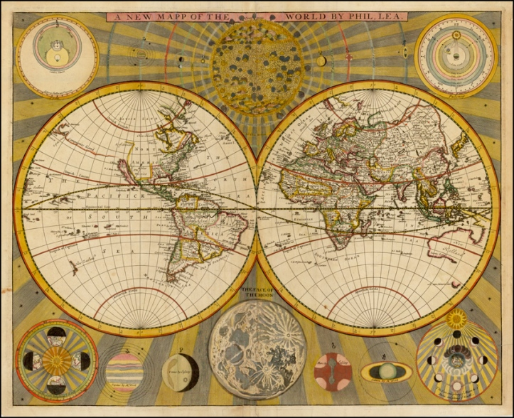 Philip Lea map of the World.
