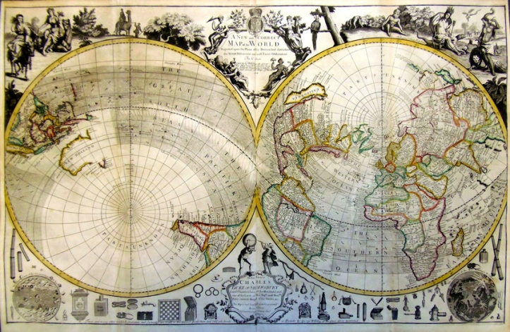 "26. Charles Price, ""A New and Correct Map of the World"" (1714). © Barry Lawrence Ruderman Antique Maps Inc."