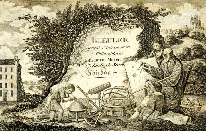 A John Bleuler trade-card of about 1800.