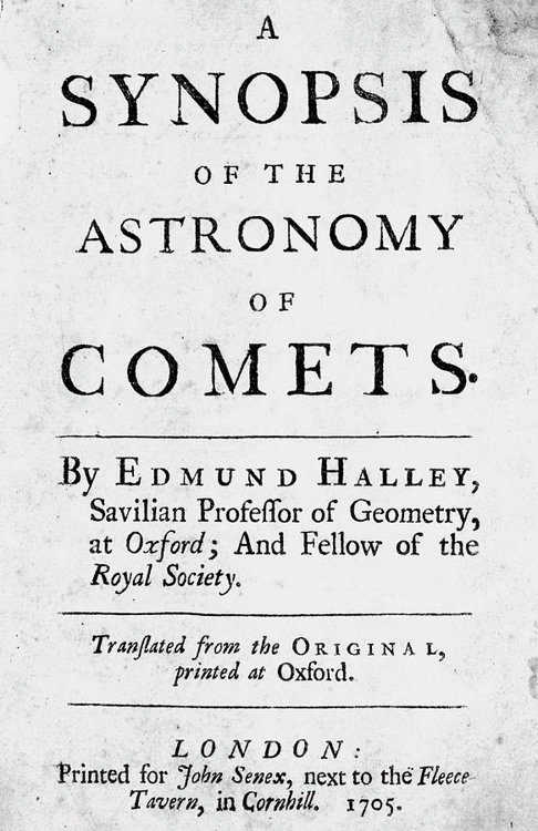 "Edmond Halley (1656-1742), ""A Synopsis of the Astronomy of Comets"""