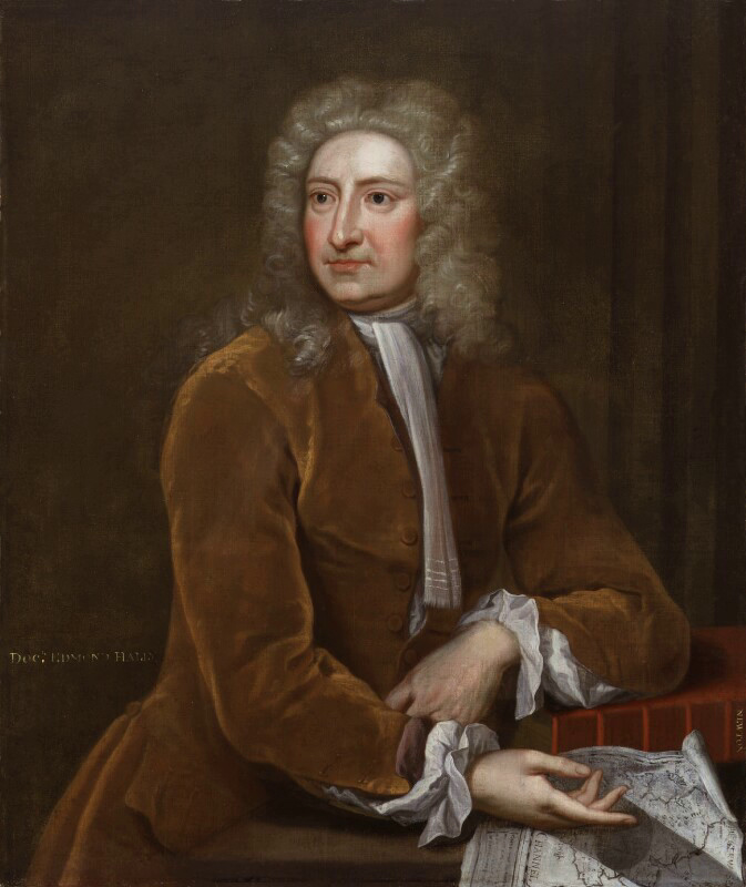 Edmond Halley (1656-1742). Attributed to Isaac Whood, oil on canvas, ca. 1715.