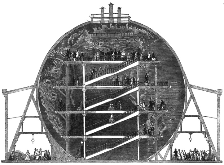 Cross-section of Wyld's Monster Globe.