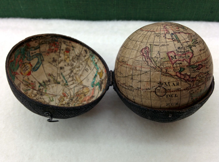 A Moxon three-inch globe of 1679.
